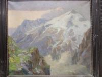 Gemälde Michell Auli Gebirgslandschaft
